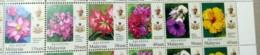 Malaysia 2018 Garden Flowers Definitive Kelantan Set MNH Setenant Strip Pairs Se-tenant Unissue - Malaysia (1964-...)