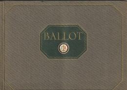 Automobiles BALLOT - Superbe Catalogue - Cars