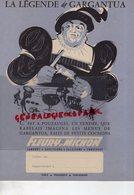 85- POUZAUGES- PARIS-CONCARNEAU- VENDEE-RARE PROTEGE CAHIER LA LEGENDE DE GARGANTUA- MENUS PETITS COCHONS-FLEURY MICHON - Buvards, Protège-cahiers Illustrés