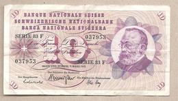 Svizzera - Banconota Circolata Da 10 Franchi P-45s.2 - 1973 - Svizzera