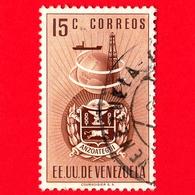 VENEZUELA - Usato - 1951 - Stemma Dello Stato Di Anzoategui - Arms - 15 - Venezuela