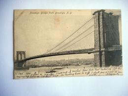 CPA NEW YORK BROOKLIN BRIDGE FROM BROOKLYN - Ponts & Tunnels