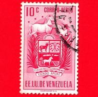 VENEZUELA - Usato - 1953 - Stemma Dello Stato Di  Apure - Arms - 10 - P. Aerea - Venezuela