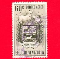 VENEZUELA - Usato - 1953 - Stemma Dello Stato Di Apure - Arms - 60 P.aerea - Venezuela