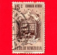 VENEZUELA - Usato - 1953 - Stemma Dello Stato Di Apure - Arms - 15 P.aerea - Venezuela