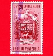 VENEZUELA - Usato - 1953 - Stemma Dello Stato Di Apure - Arms - 1.20 P.aerea - Venezuela