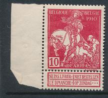 BELGIUM COB 91 MNH - 1910-1911 Caritas