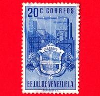 VENEZUELA - Usato - 1951 - Stemma Dello Stato Di Carabobo - Arms - 20 - Venezuela