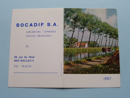 1967 Landschap : Publi SOCADIF Bruxelles /Edit. Califice ( Details - Zie Foto's Voor En Achter ) Calendrier / Kalender ! - Calendarios