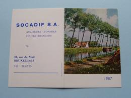 1967 Landschap : Publi SOCADIF Bruxelles /Edit. Califice ( Details - Zie Foto's Voor En Achter ) Calendrier / Kalender ! - Petit Format : 1961-70