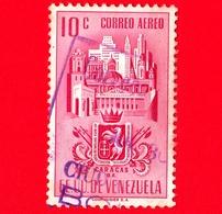 VENEZUELA - Usato - 1951 - Stemma Dello Stato Di Caracas - Arms - 10 - P. Aerea - Venezuela