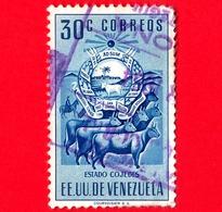 VENEZUELA - Usato - 1953 - Stemma Dello Stato Di Cojedes - Arms - 30 - P. Aerea - Venezuela