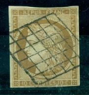 """FRANCE N° 1 Céres Oblitéré Grille Nette Et L""""gère . Bien Cote : 355 €. - 1849-1850 Ceres"""