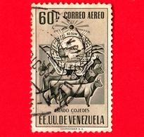 VENEZUELA - Usato - 1953 - Stemma Dello Stato Di Cojedes - Arms - 60  - P. Aerea - Venezuela