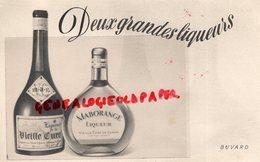 33- CENON- BUVARD DEUX GRANDES LIQUEURS-VIEILLE CURE ABBAYE DE CENON- MABORANGE - Food