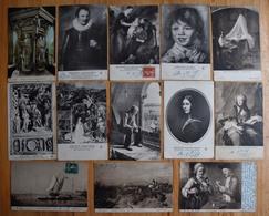 Musée De Dijon - Lot De 40 CPA - Peintures / Tableaux - Oeuvres Diverses - Ecole Française - Potter - Hals - Etc. - Pintura & Cuadros