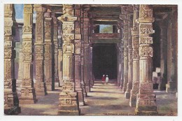 Delhi - Colonnade, Hindoo Pillars, Kutab Minar Tuck Oilette 7235 - India