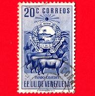 VENEZUELA - Usato - 1953 - Stemma Dello Stato Di Cojedes - Arms - Mucche - 20 - Venezuela