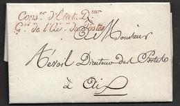 1819 Marque De Franchise - CONSer D'ETAT Deur Gal De L'AD. Des POSTES - Sur Imprimé - Marcophilie (Lettres)
