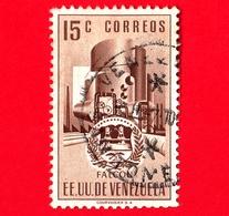 VENEZUELA - Usato - 1953 - Stemma Dello Stato Di Falcon - Arms - 15 - Venezuela