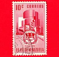 VENEZUELA - Usato - 1953 - Stemma Dello Stato Di Falcon - Arms - 10 - Venezuela