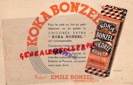 59- HAUBOURDIN- RARE BUVARD KOKA BONZEL CHICOREE EXTRA- EMILE BONZEL-ILLUSTRATEUR GRIZEAUD - Food