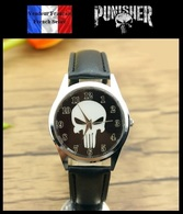 Montre à Quartz NEUVE Bracelet Cuir ! ( Watch ) - The Punisher - Montres Modernes