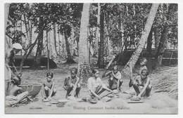 Malabar - Beating Cocoanut Husks - India