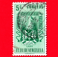 VENEZUELA - Usato - 1952 - Stemma Dello Stato Di Lara - Arms - 5 - Venezuela