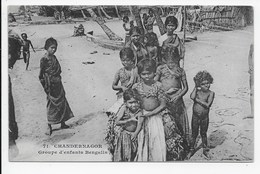 Chandernagor - Groupe D'enfants Bengalis - India