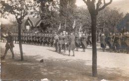 CPA PHOTO    ALLEMAGNE---BINGEN---REMISES DE DECORATION MILITAIRE---1921 - Bingen