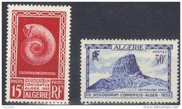"Algerie YT 297 & 298 "" Géologie "" 1952 Neuf** - Nuevos"