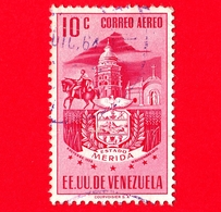 VENEZUELA - Usato - 1953 - Stemma Dello Stato Di Merida - Arms - 10 - P. Aerea - Venezuela