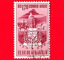 VENEZUELA - Usato - 1953 - Stemma Dello Stato Di Merida - Arms - 1.20 - P. Aerea - Venezuela