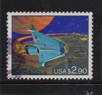 USA 1993, $2,90 Space, Minr 2375, Vfu. Cv 5 Euro - Oblitérés