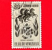 VENEZUELA - Usato - 1953 - Stemma Dello Stato Di Monagas - Arms - 60 - P. Aerea - Venezuela