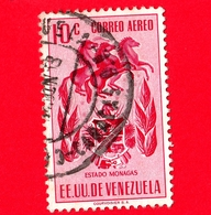 VENEZUELA - Usato - 1953 - Stemma Dello Stato Di Monagas - Arms - 10 - P. Aerea - Venezuela