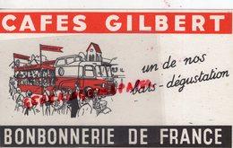 86- POITIERS- BUVARD CAFES GILBERT BONBONS BONBONNERIE DE FRANCE-AUTOBUS -SIEGE 75-PARIS 136 RUE CHAMPIONNET - Koffie En Thee