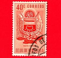 VENEZUELA - Usato - 1953 - Stemma Dello Stato Di Nueva Esparta - Arms - 40 - Venezuela