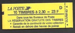 France Carnet N° 2614 C2 Date Incomplète Neuf Livraison Gratuite - Freimarke