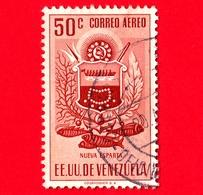 VENEZUELA - Usato - 1953 - Stemma Dello Stato Di Nueva Esparta - Arms - 50 - P. Aerea - Venezuela