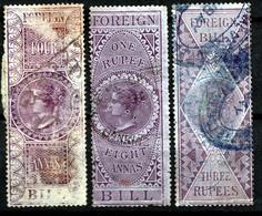 INDIA QV  3 X FOREIGN BILL  REVENUE - India (...-1947)