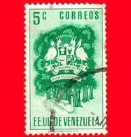 VENEZUELA - Usato - 1953 - Stemma Dello Stato Di Portuguesa - Arms - 5 - Venezuela