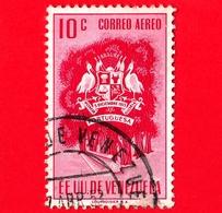VENEZUELA - Usato - 1953 - Stemma Dello Stato Di Portuguesa - Arms - 10 - P. Aerea - Venezuela