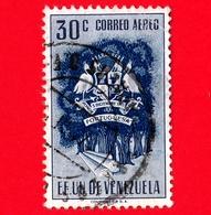 VENEZUELA - Usato - 1953 - Stemma Dello Stato Di Portuguesa - Arms - 30 P. Aerea - Venezuela