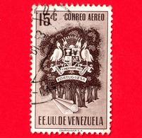 VENEZUELA - Usato - 1953 - Stemma Dello Stato Di Portuguesa - Arms - 15 - P. Aerea - Venezuela