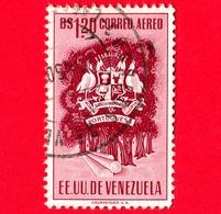 VENEZUELA - Usato - 1953 - Stemma Dello Stato Di Portuguesa - Arms - 1.20 - P. Aerea - Venezuela