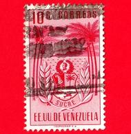 VENEZUELA - Usato - 1952 - Stemma Dello Stato Di Sucre - Arms - 10 - Venezuela