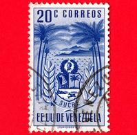 VENEZUELA - Usato - 1952 - Stemma Dello Stato Di Sucre - Arms - 20 - Venezuela