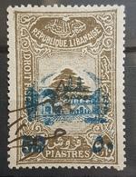 "NO11 #147 - Lebanon 1942 Cedar Design 3p60 Fiscal Revenue Overprinted ""50"" And Beit-ed-Din Palace - Lebanon"